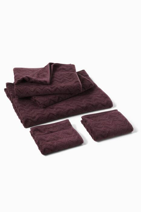 Purple Rex 50 Towel, Set Of 5