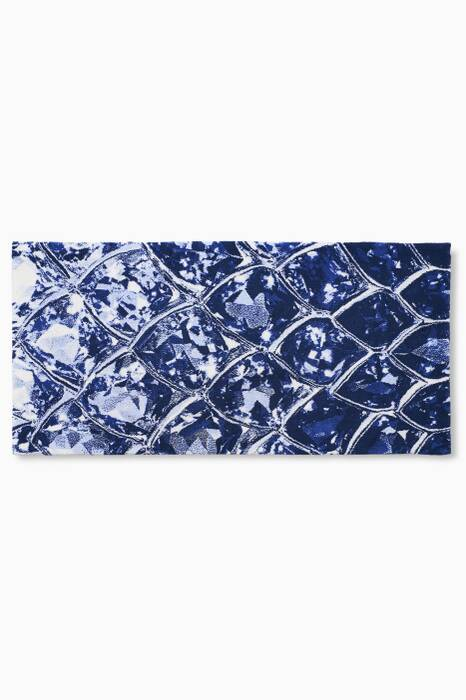 Blue Gem Bath Mat