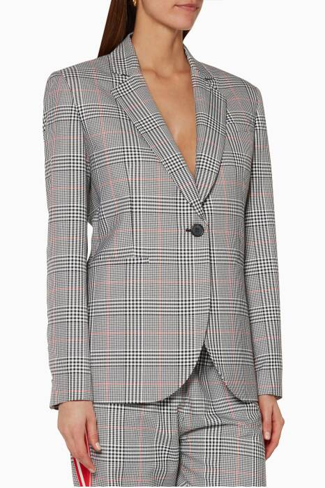 Red Plaid Glen Blazer