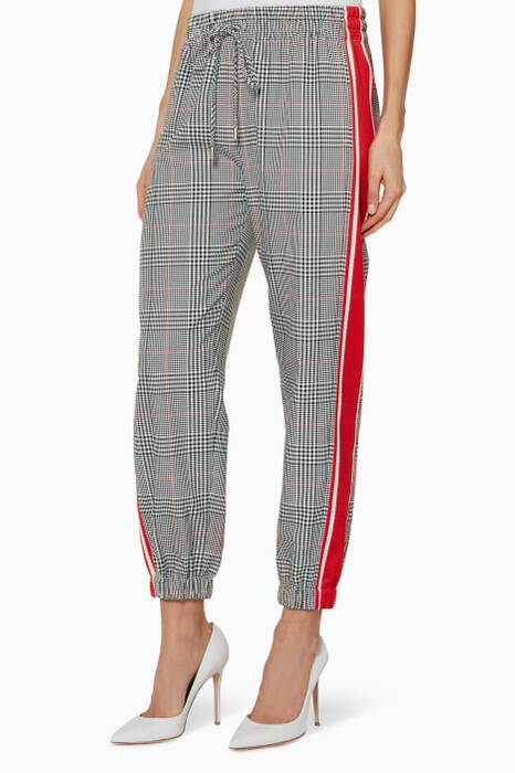 Multi-Coloured Plain Glen Track Pants
