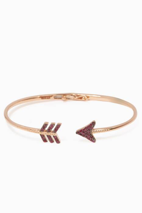 Rose-Gold & Ruby Eros Arrow Bangle