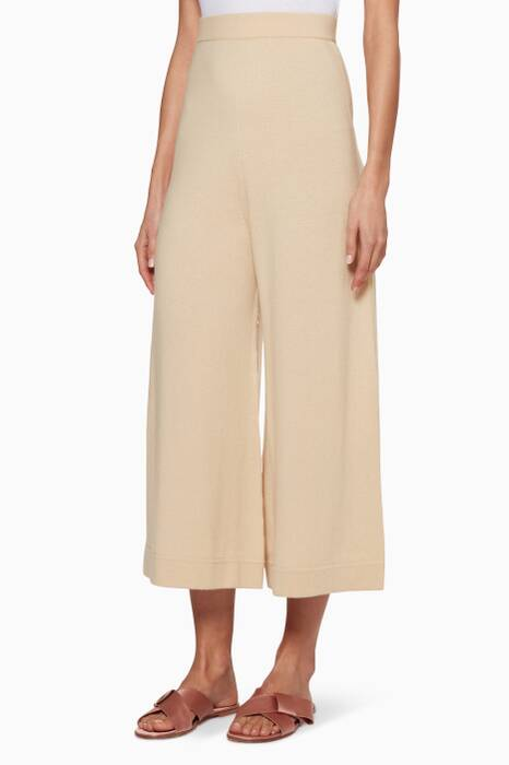 Camel Cashmere Cropped Pants