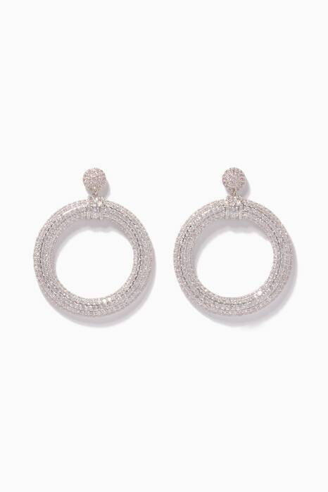 Silver Drama Hoop Earrings