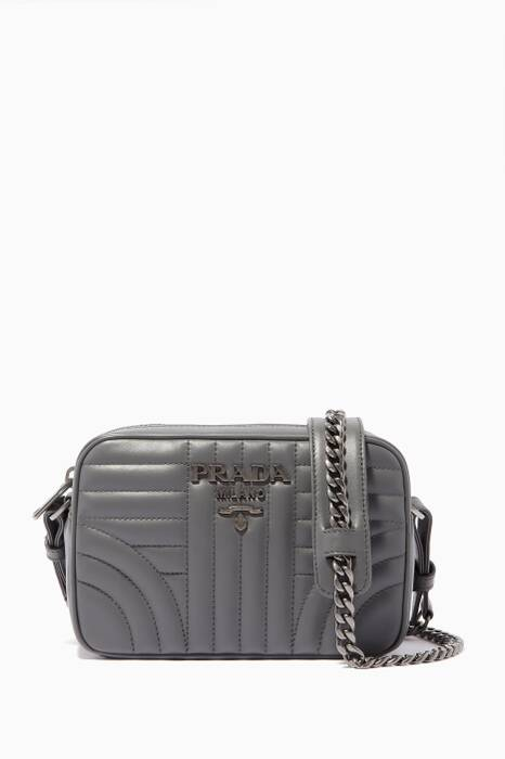 Dark-Grey Diagramme Quilted Camera Cross-Body Bag