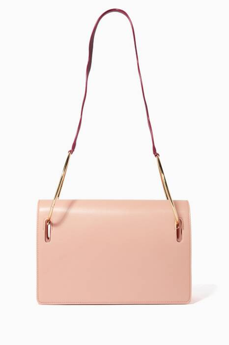 Light-Pink Dora Leather Shoulder Bag