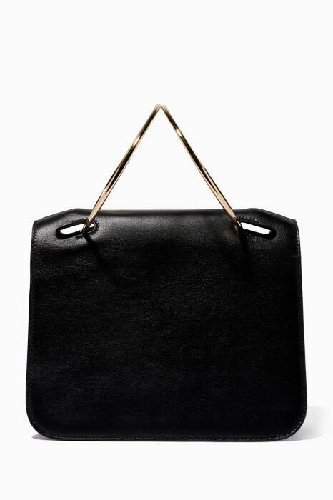 Black Neneh Flap Shoulder Bag