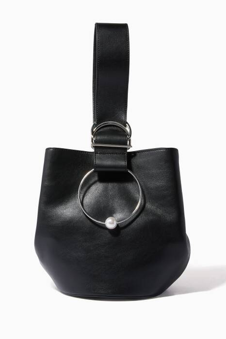 Black Medium Gem Sphere Bag