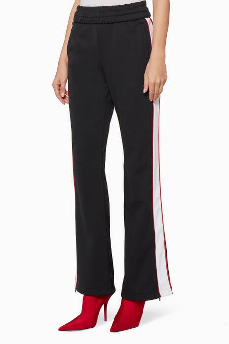 Black Striped Track Pants