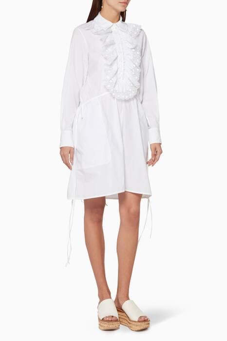 White Cotton Poplin Dress