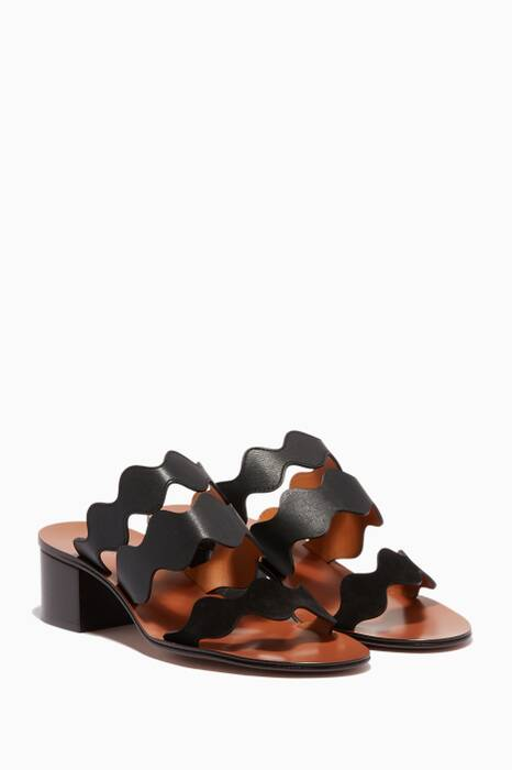 Black Scallop Lauren Palmer Mules