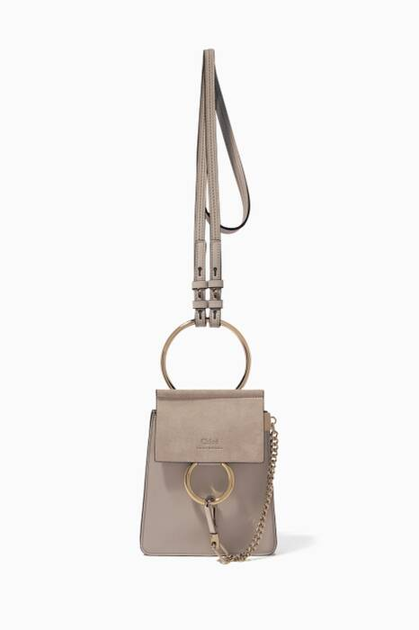 Airy-Grey Small Faye Bracelet Bag