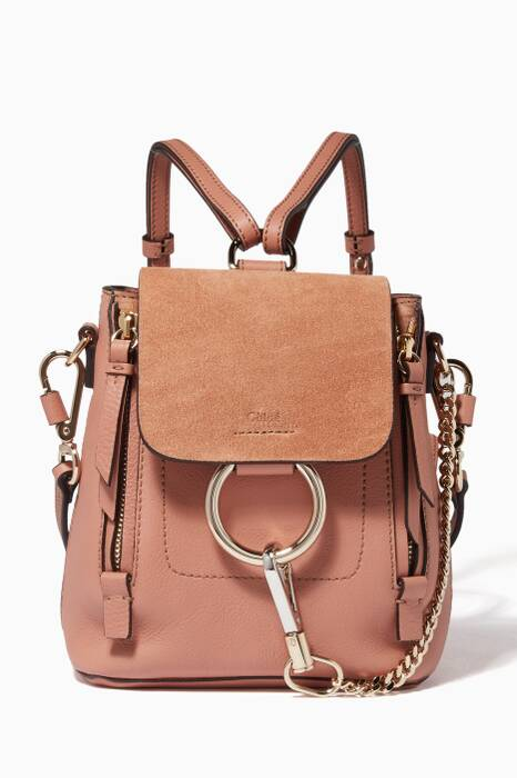 Brown Mini Faye Suede Backpack
