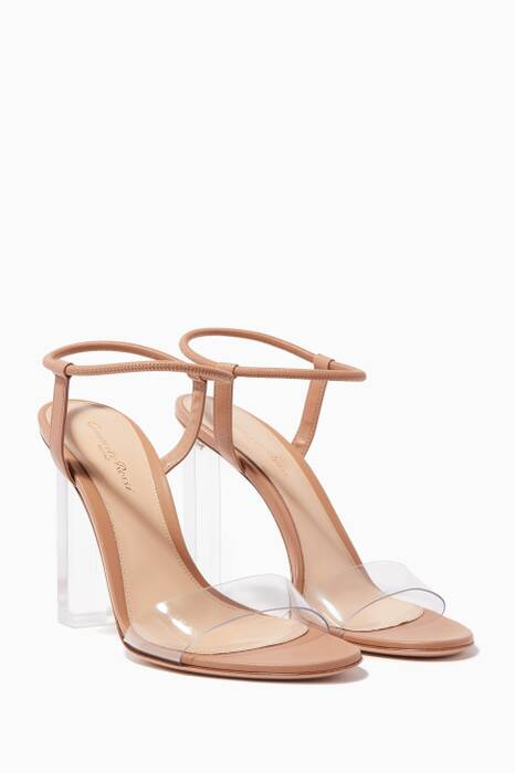 Light-Beige Hanne Plexi Sandals