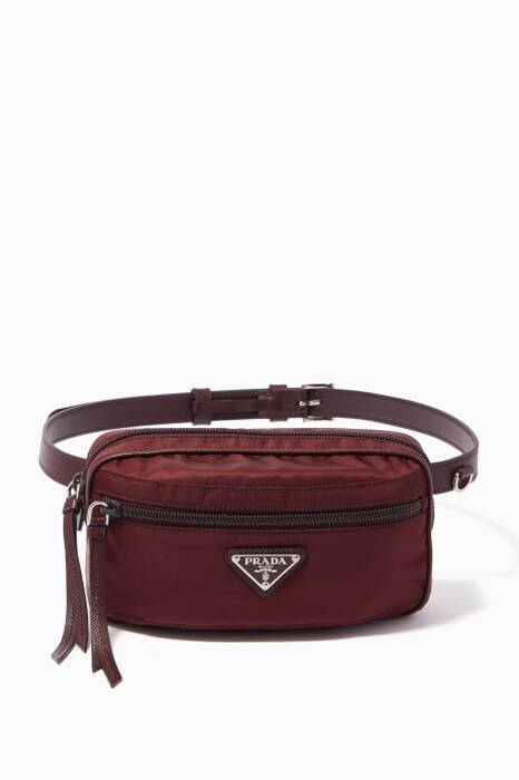 Burgundy Iconic Small Oval Belt Bag