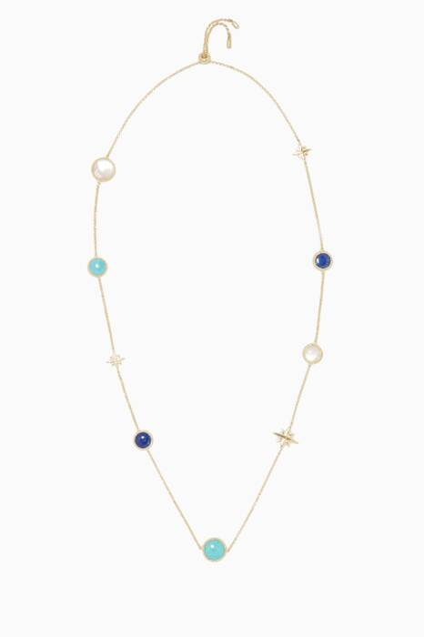 Gold & Multi-Stone Necklace