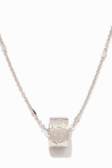 White-Gold Icon Blossom Necklace