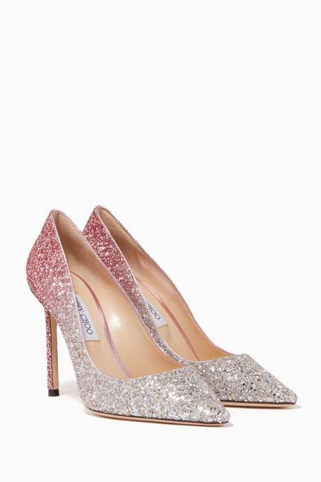 Light-Pink Romy Glitter Pumps