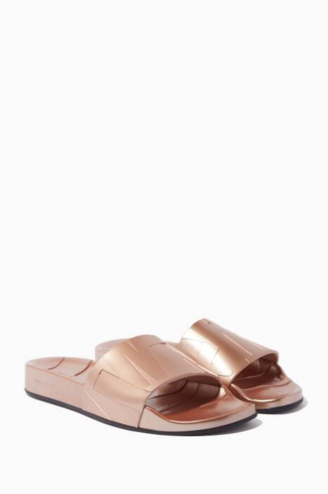Rose Gold Rey Slides