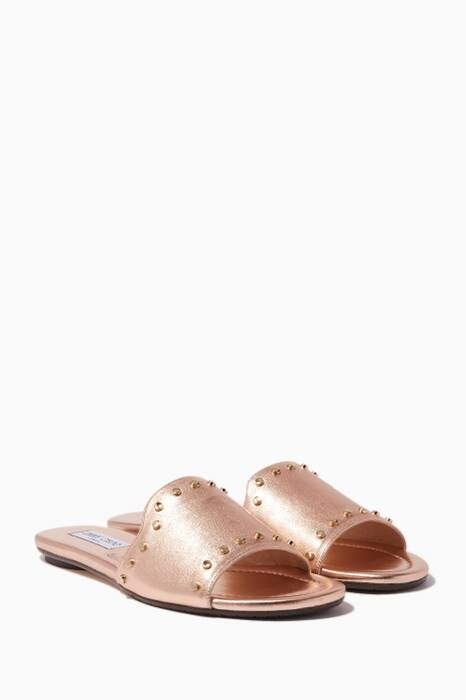 Rose-Gold Studded Nanda Slides