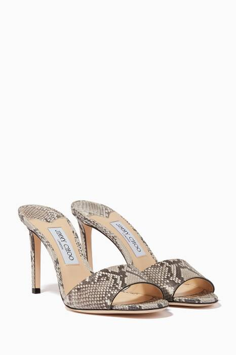 Light-Grey Stacey Python Sandals
