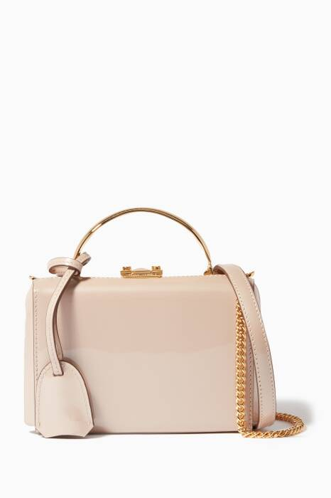 Oyster Mini Patent Grace Box Bag