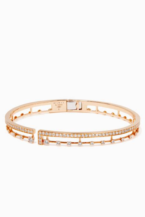 Rose-Gold & Diamond Avenue Bangle
