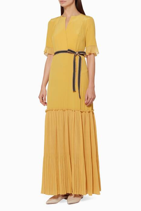 Yellow Ruffled Mimoza Dress