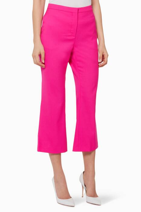 Crimson-Pink Cropped Nettle Pants