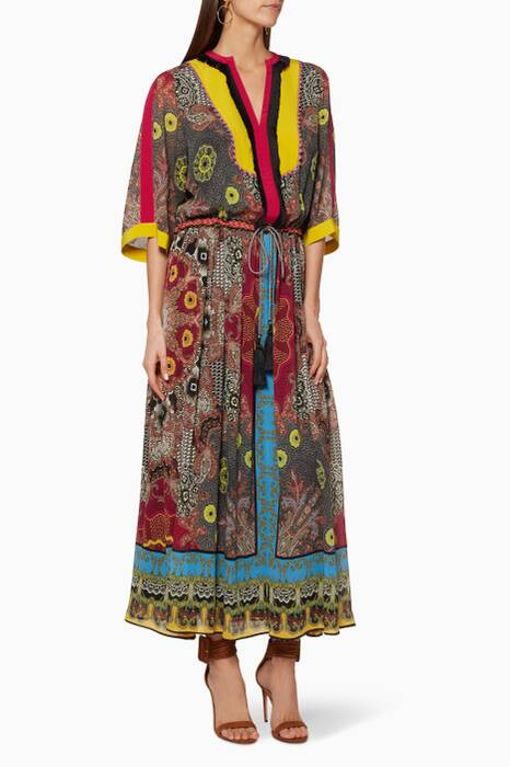 Multi-Coloured Hosho Dress