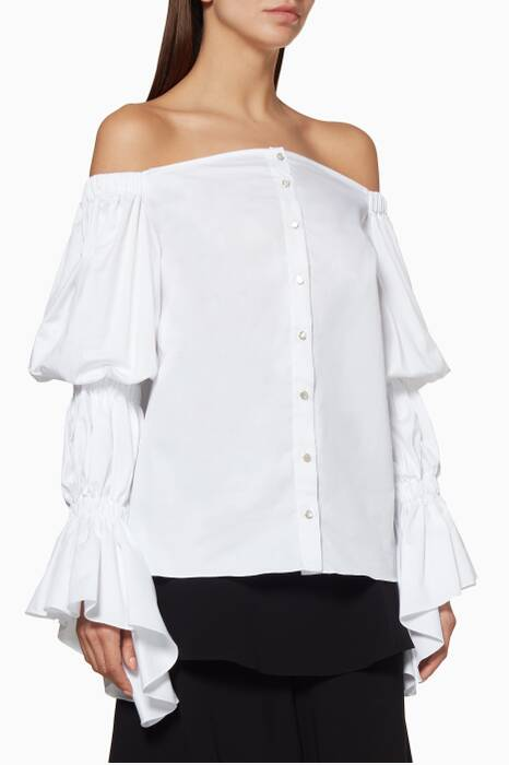 White Ilima Off-The-Shoulder Shirt