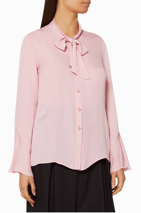 Light-Pink Silk Avone Shirt