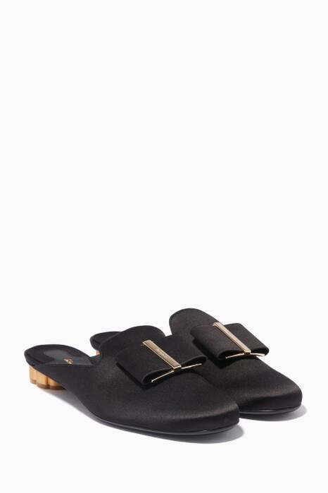 Black Sciacca T Bow Mules