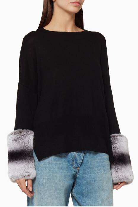 Black Chinchilla Sweater