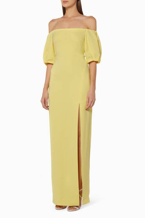 Yellow Off-The-Shoulder Reina Gown