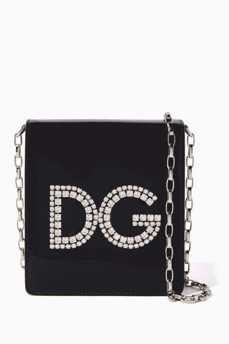 Black Mini Crystal Girl Shoulder Bag