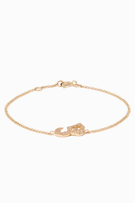 Yellow-Gold & Diamond SH Bracelet