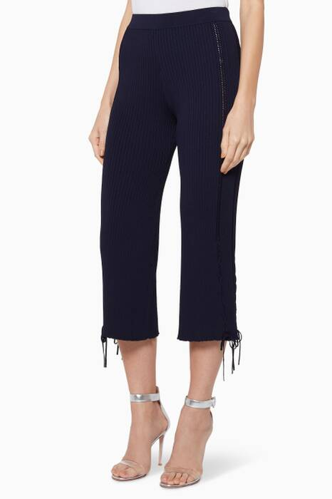 Navy Ribbed Pants