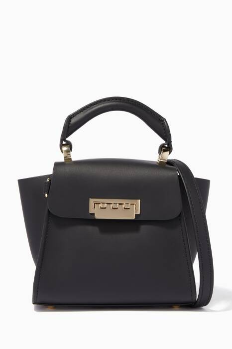 Black Eartha Mini Top Handle Bag