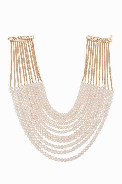 Pearl & Gold-Tone Brass Raissa Necklace