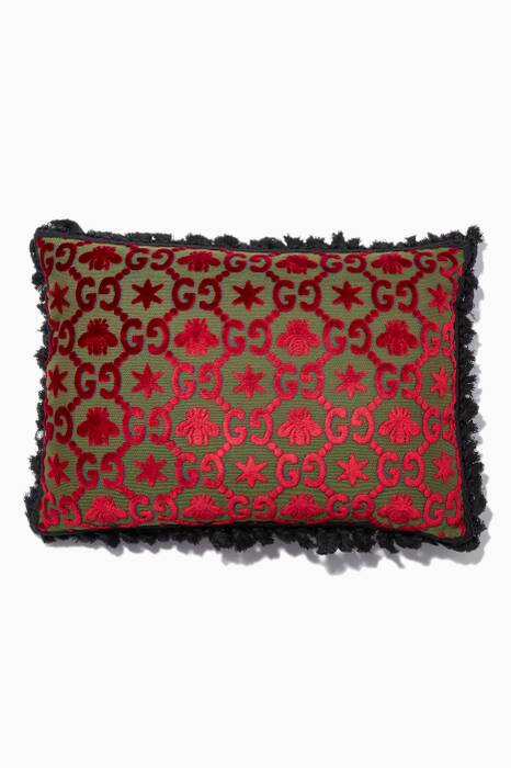 Red GG Jacquard Cushion