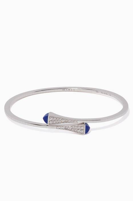 White-Gold, Blue Lapis & Diamond & Cleo Bangle