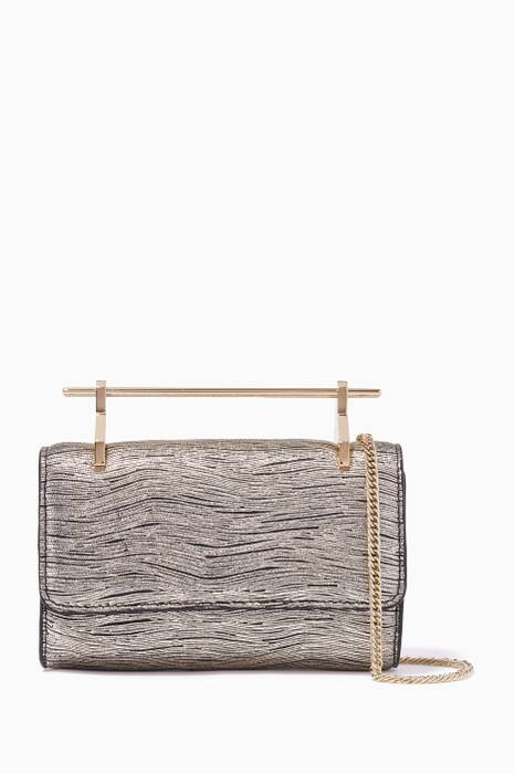 Gold Mini Fabricca Wave Print Shoulder Bag