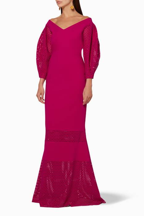 Purple Larina Long Dress