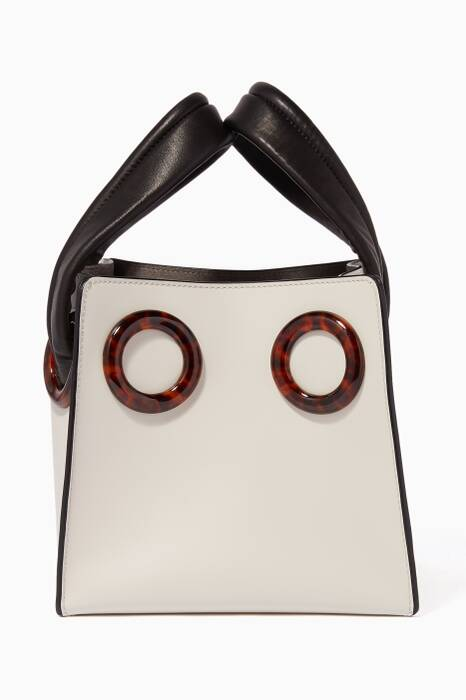 White Deon 19 Leather Tote Bag