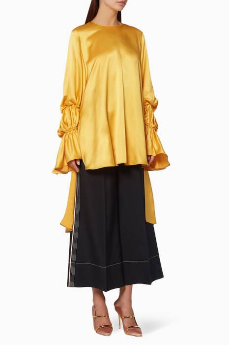 Yellow Silk Rosina Top