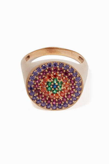 Multi-Coloured Pinky Tribal Ring