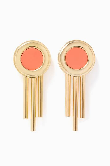 Gold Tribal Dangling Earrings