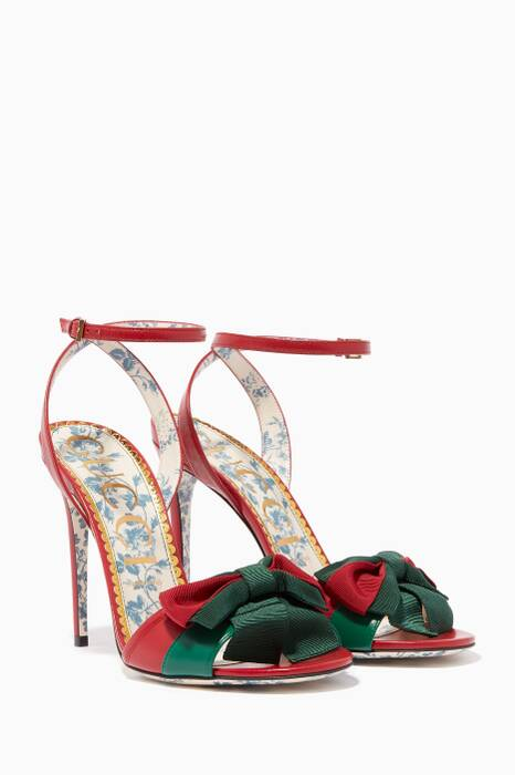Red Web Bow Sandals