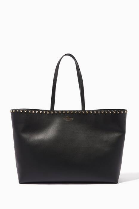 Black Rockstud Tote Bag