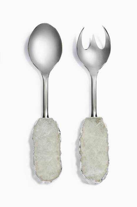 Silver Scossa Salad Servers, Set Of 2
